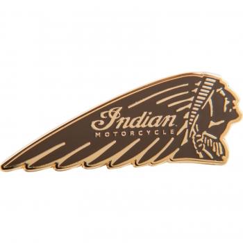 Indian Motorcycle Circle Icon Pin Badge headdress warbonnet mens ladies gift