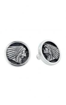 0d9aed3822685 Indian Headdress Coin Stud Earrings